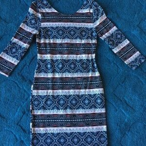 Patterned Bodycon Dress!